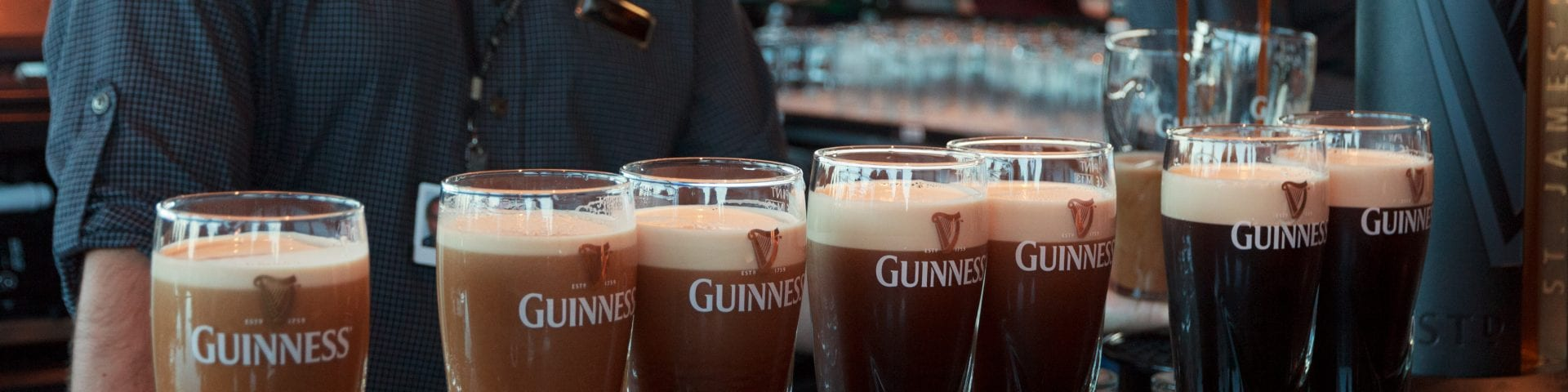 Pint of Guinness at the Guinness Storehouse, Dublin